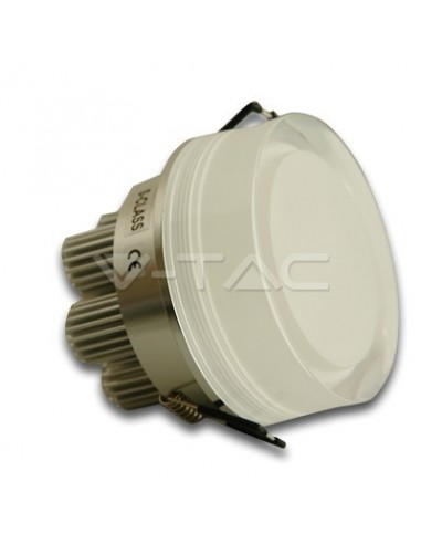 7W Spot LED - Rotund Decorativ Alb Rece 6000K