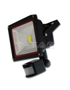 LedOne 30W Proiector LED V-TAC cu senzor Alb Cald 3000K Megazin Online Pret Ieftin