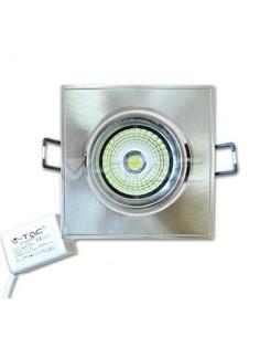 LedOne 5W Spot LED V-TAC COB Patrat Ajustabil Alb Rece6000 K Megazin Online Pret Ieftin
