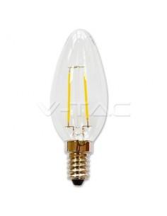 LedOne 2W Bec LED Filament E14 Lumanare Alb Cald 2700K Megazin Online Pret Ieftin