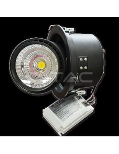 LedOne 25W Spot LED Downlight COB Zoom Fitting Corp Negru 3000K Megazin Online Pret Ieftin