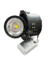 25W Spot LED Downlight COB Zoom Fitting Corp Negru 3000K