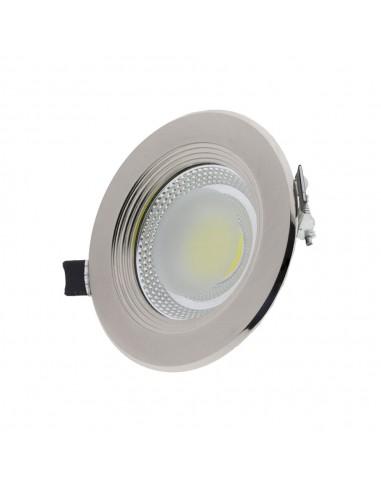 Spot LED Rotund Inox 30W Alb Cald