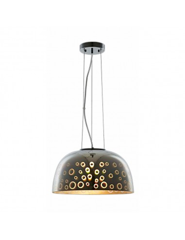 Lampa LED 3D Sticla Umbrella Pendant D400 Chrome Circles