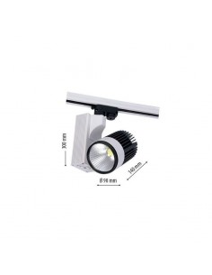 LedOne 30W Lampa LED Sina Metro COB 4500K Megazin Online Pret Ieftin
