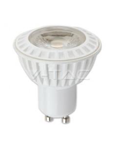 LedOne 6W Spot LED -  GU10 Alb Plastic Premium 2700K 38°  Megazin Online Pret Ieftin