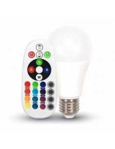 LedOne 6W Bec LED E27 A60 RGB cu Control Telecomanda 2700K Megazin Online Pret Ieftin