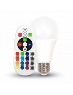 Bec LED Christmas RGB E27 cu Telecomanda si Programe Colorate