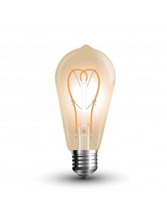 LedOne 5W Bec LED - 5W E27 Lung Filament Auriu Sticla ST64 2200K Megazin Online Pret Ieftin