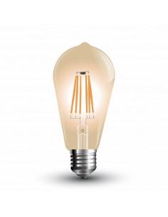 LedOne 6W Bec LED E27 Filament Tip Amber ST64 2200K Megazin Online Pret Ieftin