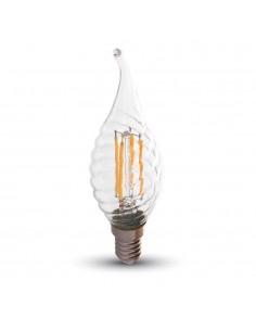 LedOne 4W Bec LED  Filament  E14 Lumanare  2700K Megazin Online Pret Ieftin