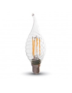 LedOne 4W Bec LED Filament E14 Lumanare 6000K Megazin Online Pret Ieftin