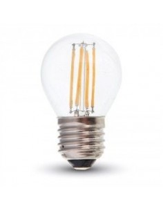LedOne 4W Bec LED Filament E27 G45 6000K Megazin Online Pret Ieftin