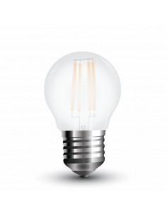 LedOne 4W Bec LED  Filament  E27 G45 Sticla Mat 6400K   Megazin Online Pret Ieftin