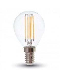 LedOne 4W Bec LED  Filament  E14 P45 2700K cu Variator Megazin Online Pret Ieftin