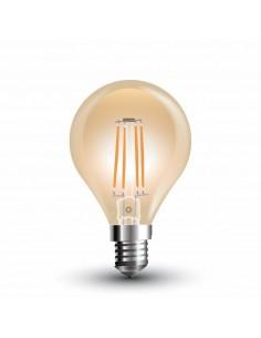LedOne 4W Bec LED  Filament  E14 P45 Tip Amber 2200K   Megazin Online Pret Ieftin