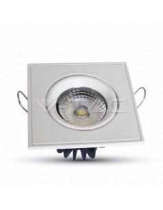 LedOne 3W Spot LED Incastrabil COB Patrat Variabil Unghi - Corp Alb 6000K  Megazin Online Pret Ieftin