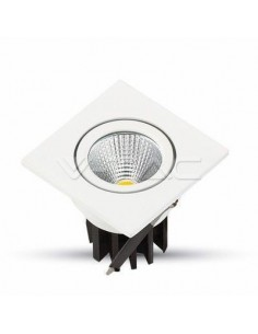 LedOne 3W Spot LED Incastrabil COB Patrat Corp Alb 3000K Megazin Online Pret Ieftin