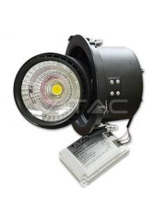LedOne 25W Spot LED Incastrabil COB Zoom  Racord Corp Negru 5000K        Megazin Online Pret Ieftin