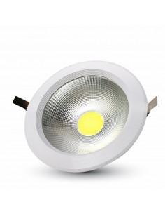 LedOne 30W Spot LED COB Incastrabil Reflector Corp Alb - 3000K Megazin Online Pret Ieftin