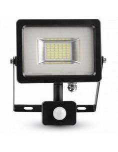 LedOne 20W Proiector LED cu Detector Negru/Corp Gri SMD 3000K Megazin Online Pret Ieftin