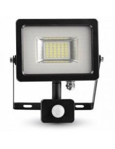 LedOne 20W Proiector LED cu Detector Negru/Corp Gri SMD 4500K Megazin Online Pret Ieftin