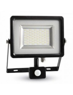 LedOne 30W Proiector LED cu Detector  Negru/Corp Gri SMD 3000K  Megazin Online Pret Ieftin