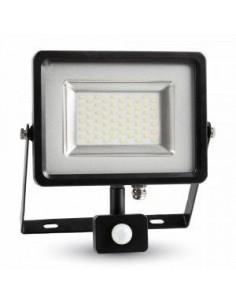 LedOne 30W Proiector LED cu Detector Negru/Corp Gri SMD 4500K Megazin Online Pret Ieftin