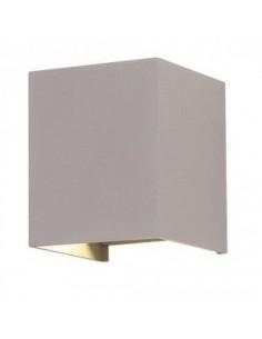 LedOne 6W Lampa Perete LED cu Bridglux Chip Gri Corp Patrat 3000K Megazin Online Pret Ieftin