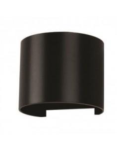 LedOne 6W Lampa LED Perete Corp Negru Rotunda IP65 3000K Megazin Online Pret Ieftin