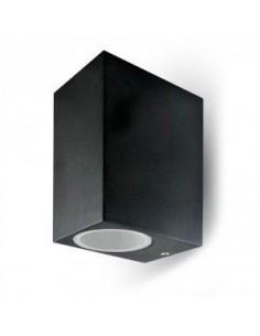LedOne 35W Lampa PereteLisse Aluminiu Patrat Negru 2Way IP44 Megazin Online Pret Ieftin