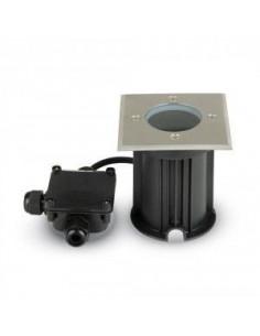LedOne Lampa Sol Rotunda Racord Metal Corp GU10 Negru PatratIP65 Megazin Online Pret Ieftin