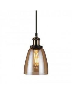 LedOne Lampa Plafoniera LED Vintage Sticla  Lumina Amber ф140  Megazin Online Pret Ieftin