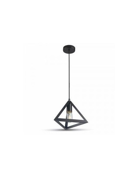 Lampa LED Plafoniera Geometric Triunghi Negru