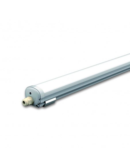 48W Lampa LED Water-Proof IP65 150CM  Alb Rece 6000K