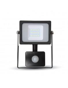 LedOne VT-4911 10W PROIECTOR LED SMD CU SENZOR SLIM Alb Cald 3000K Corp Negru Cod V-TAC5783 Megazin Online Pret Ieftin