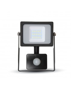 LedOne VT-4911 10W PROIECTOR LED SMD CU SENZOR SLIM Alb Rece 6000K Corp Negru Cod V-TAC5785 Megazin Online Pret Ieftin