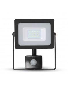 LedOne VT-4922 20W PROIECTOR LED SMD CU SENZOR SLIM Alb Cald 3000K Corp Negru Cod V-TAC5801 Megazin Online Pret Ieftin