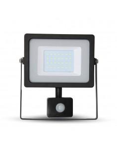 LedOne VT-4930 30W PROIECTOR LED SMD CU SENZOR SLIM Alb Cald 3000K Corp Negru Cod V-TAC5819 Megazin Online Pret Ieftin