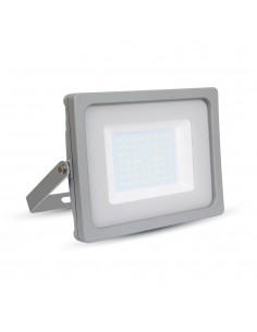 LedOne VT-4955 50W PROIECTOR LED SLIM SMD Alb Rece 6000K Corp Gri Cod V-TAC5836 Megazin Online Pret Ieftin