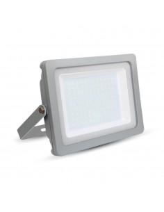 LedOne VT-49100 100W PROIECTOR LED SLIM SMD Alb Cald 3000K Corp Gri Cod V-TAC5852 Megazin Online Pret Ieftin