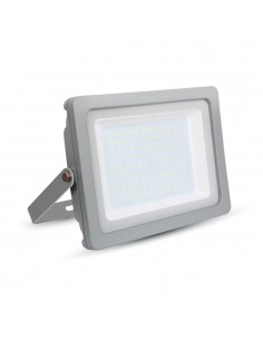 LedOne VT-49100 100W PROIECTOR LED SLIM SMD Alb Rece 6000K Corp Gri Cod V-TAC5854 Megazin Online Pret Ieftin