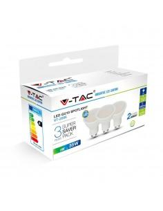 LedOne VT-2095 5W SPOT LED SMD-LAPTOS Alb Natural 4000K 3PCS/PACK GU10 Cod V-TAC7270 Megazin Online Pret Ieftin