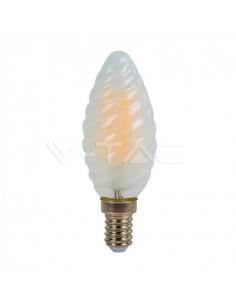 LedOne VT-1928 4W BEC LED FILAMENT LUMANARE ALB CALD 2700K E14 Cod V-TAC71071 Megazin Online Pret Ieftin