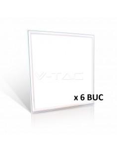 LedOne VT-6137 36W PANOU LED-62x62CM ALB CRISTAL 6400K HIGH LUMEN 6PCS/PACK Cod V-TAC63796 Megazin Online Pret Ieftin