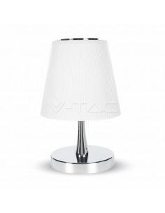 LedOne VT-1035 5W LAMPA LED BIROU - CHROME CORP+ALB SHADE Cod V-TAC8502 Megazin Online Pret Ieftin