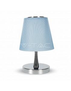LedOne VT-1035 5W LAMPA LED BIROU - CHROME CORP+BLUE SHADE Cod V-TAC8503 Megazin Online Pret Ieftin