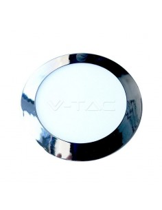 LedOne VT-2407CH 24W PANOU LED SLIM-CHROME Alb Natural 4000K ROTUND Cod V-TAC6353 Megazin Online Pret Ieftin