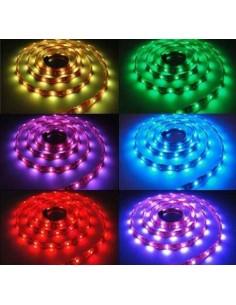 LedOne Banda LED flexibila, SMD 5050, 12V DC, 14.4W/m, 60 led-uri/m, RGB, 5m, nerezistenta la apa Megazin Online Pret Ieftin