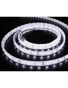 LedOne BANDA LED FLEXIBILA, SMD 3528, 12V DC, 4.8W/M, 60LED-uri/M, alb rece, 5m, nerezistenta la apa Megazin Online Pret Ieftin